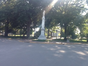 This is a monument to the Confederate Dead on the Ole Miss Campus.
